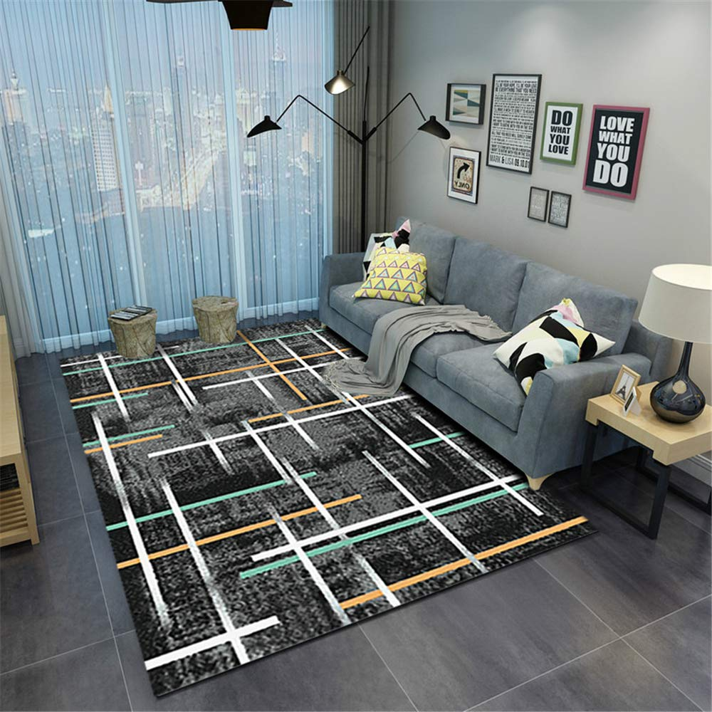Best Seller Nordic Simple Carpet Living Room Home Machine Washable Geometric Floor mat D1 120X160CM