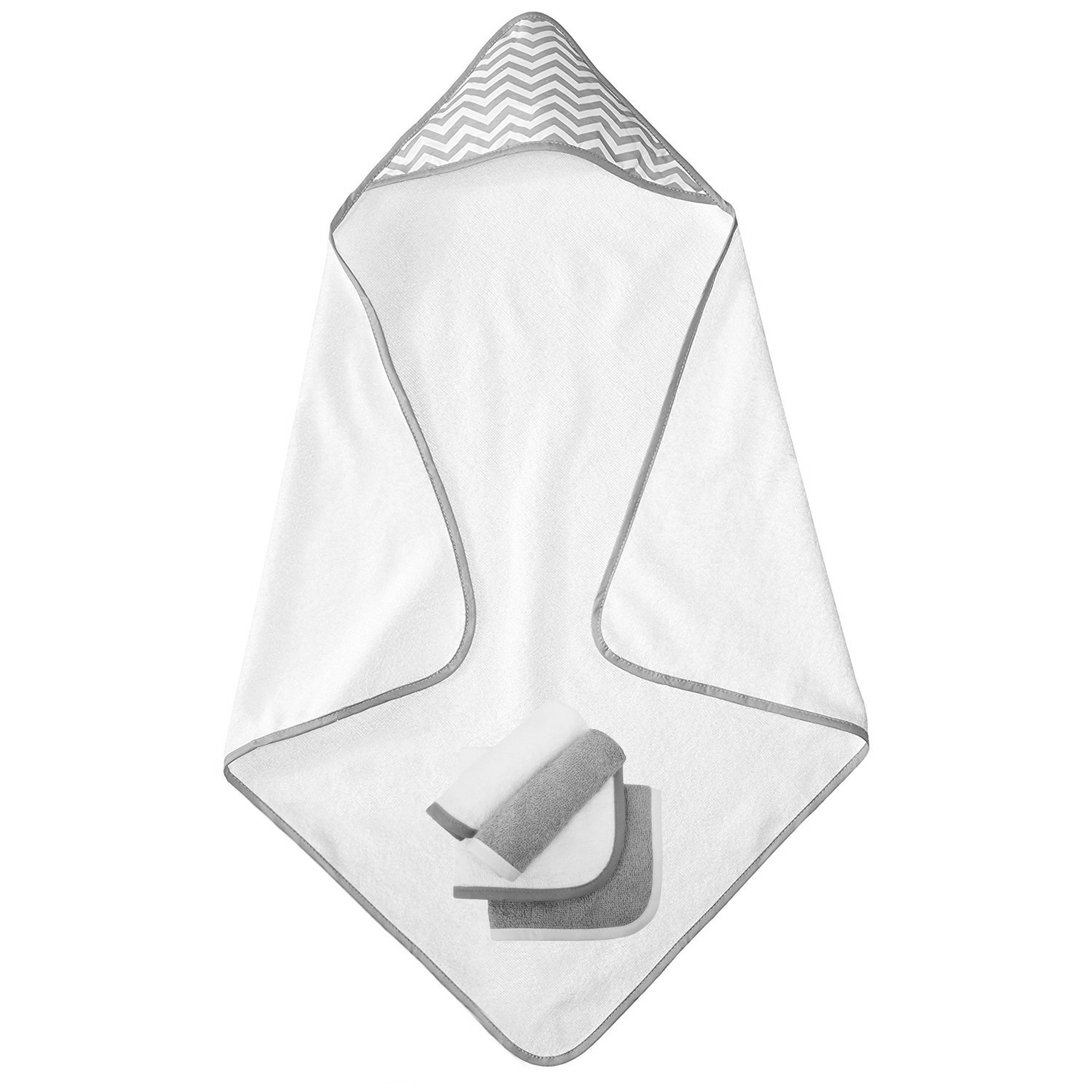 for Boys /& Girls American Baby Company Terry Hooded Towel Set Made with Organic Cotton Aqua Sea Wave