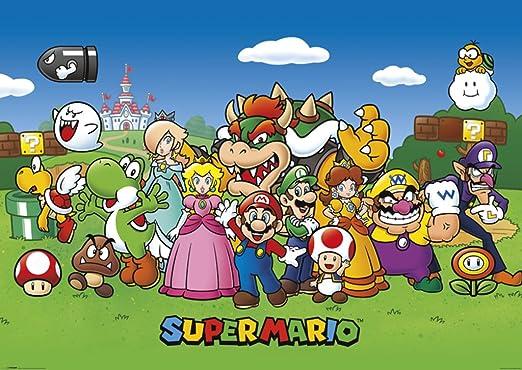 Amazon Com Pyramid America Super Mario Characters Nintendo Video