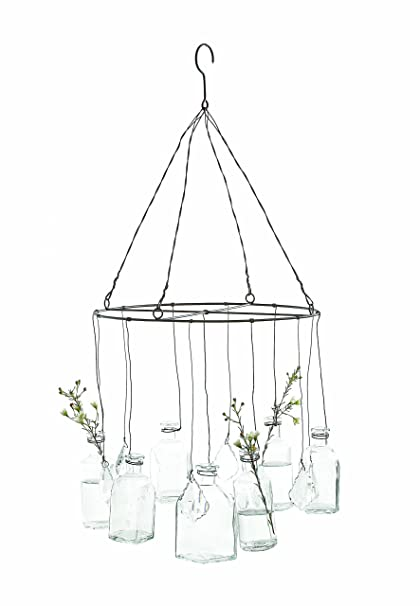 Amazon Creative Co Op Da0239 Wire Hanging Of Glass Vases And