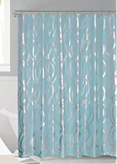 teal and gold shower curtain. Luxurious Bold Metalic Moroccan Trellis Shower Curtain Set with 12 Hooks  72 x72 Amazon com Fieldcrest White Wild Honey Oxford