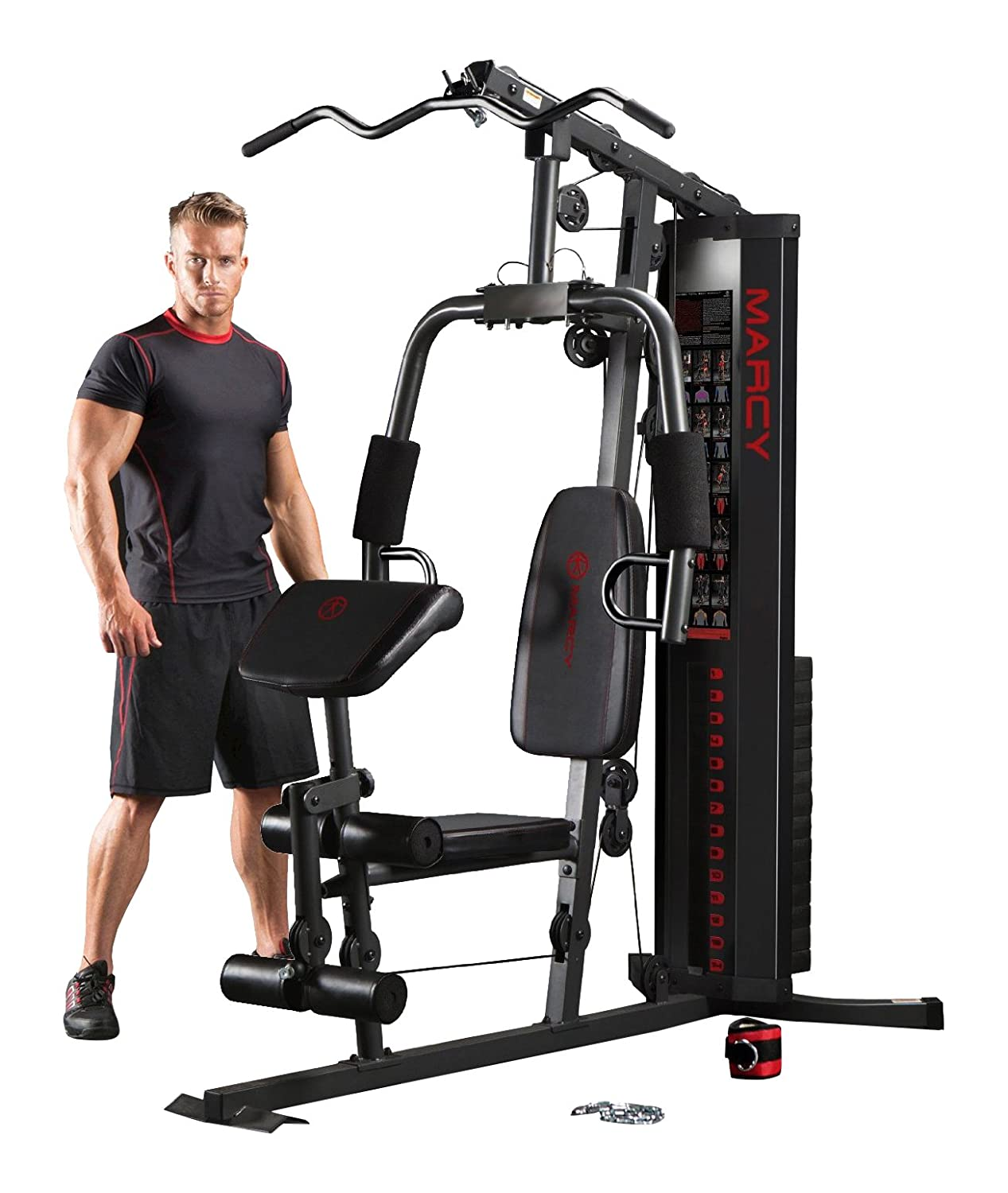 Marcy Eclipse HG3000 Compact Home Gym with Weight Stack, 68 kg:  Amazon.co.uk: Sports & Outdoors