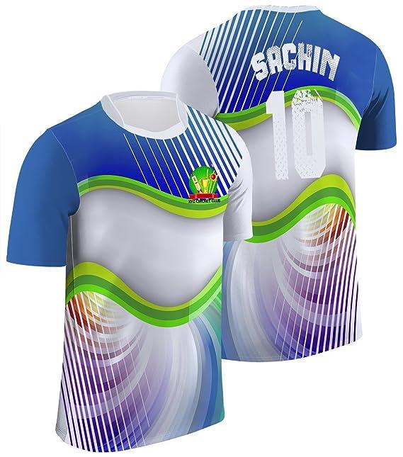 c79ab79de Mode Stoff Men s Poly Dry Fit Jersy T Shirt (Blue