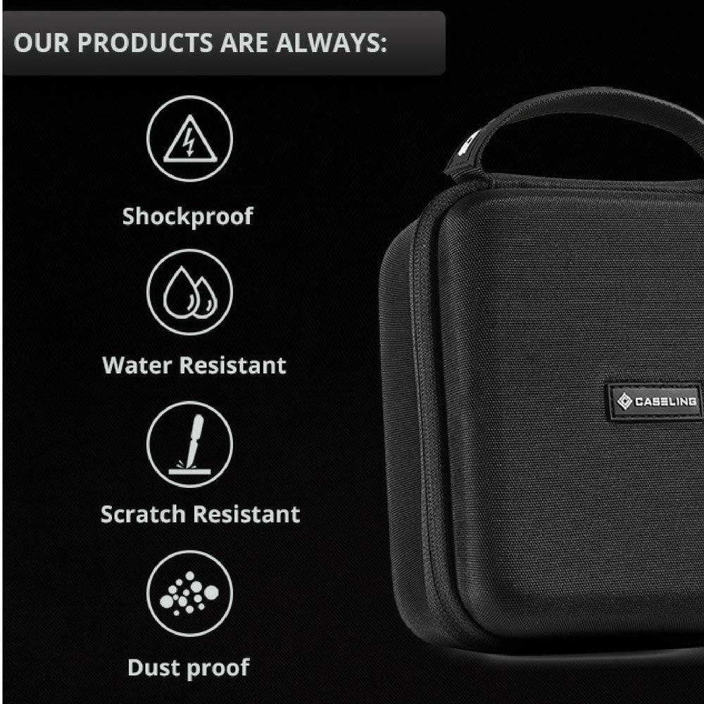 Mesh Pocket for USB//Cables 10 Watt Portable Speaker System Travel Bag Hard Case Fits SHARKK Boombox NFC Speaker by Caseling