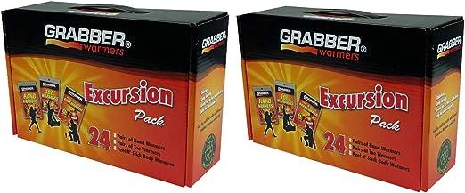 Grabber Warmers Grabber Excursion paquete múltiple de calentador, 8 pares de manos, 8 pares de dedos, 8 calentadores de cuerpo de despegar y pegar, 24 unidades: Amazon.es: Hogar