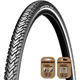 MICHELIN Protek Cross / Road / Trail Cycle Bike Tire - ALL SIZES - 1mm or 5mm Protection - Wirebead - FREE VALVE CAP UPGRADE WORTH $4.99!