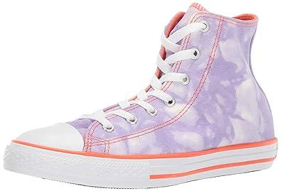 6760cf68b Converse Girls Kids' Chuck Taylor All Star Tie-Dye High Top Sneaker Washed  Lilac