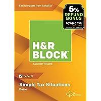 H&R Block Tax Software Basic 2018 with 5% Refund Bonus Offer [PC Download]