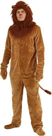 Brown Lion Costume Adult Lion Onesie Animal Costume for Men