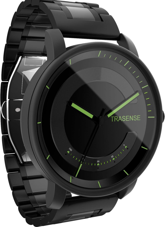 Hybrid Smartwatch, reloj de cuarzo con notificación recordatorio vibración y actividad Tracker correa de acero inoxidable, 0.75 pounds, color metalizado