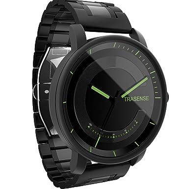 Hybrid Smartwatch, reloj de cuarzo con notificación recordatorio vibración y actividad Tracker correa de acero inoxidable, 0.75 pounds, color ...