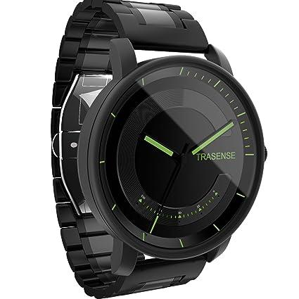 Smartwatch hybride, montre à quartz avec vibrations de notifications et suivi dactivité,