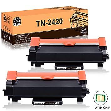 FITU WORK TN2420 TN2410 (con Chip) Cartucho Toner Compatible para Brother HL-L2310D HL-L2350DW HL-L2370DN HL-L2375DW DCP-L2510D DCP-L2350DW ...