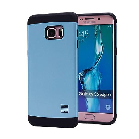 32nd Funda Armadura Rigida Slim Armour con Doble Carcasa para Samsung Galaxy S6 Edge Plus (S6edge+) (SM-G928) - Azul Acero