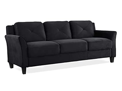 Lifestyle Solutions KD Rolled-Arm Collection Grayson Micro-Fabric Sofa, 80.3