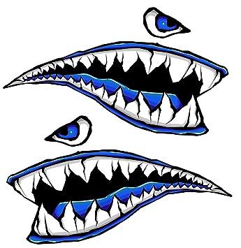 Amazon.com: Tanque de Gas Side Fighter tiburón dientes Azul ...