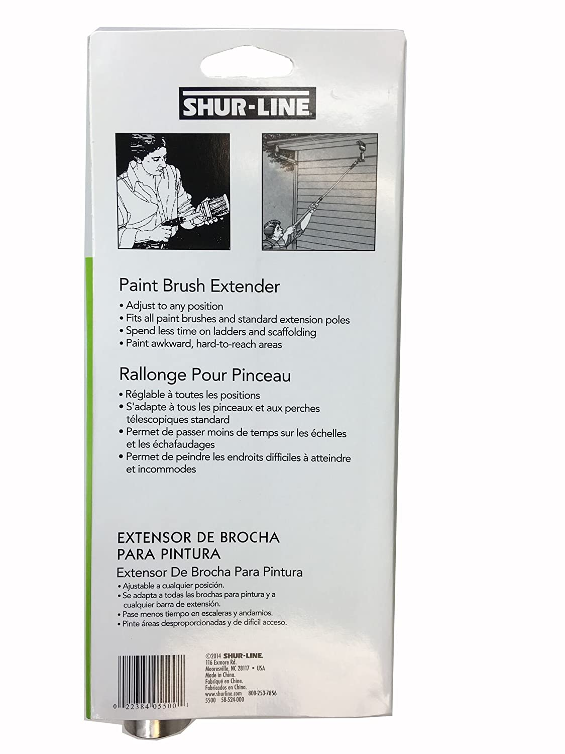 paint brush holder for extension pole. shur-line 5500 brush extender for paint brushes and extension poles - painting hand tools amazon.com holder pole