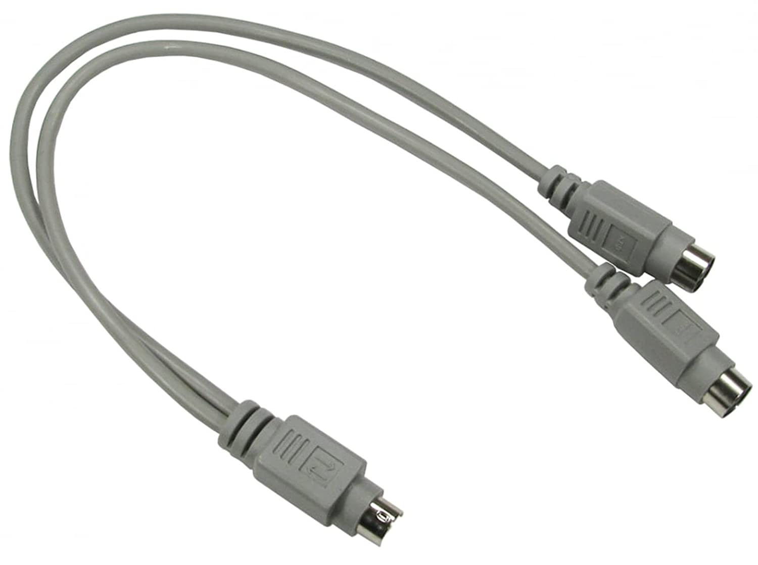 rhinocables® Ps2 PS/2 keyboard mouse splitter cable lead Wire Y Splitter - 1 Male to 2 female