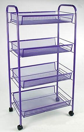 Carrito de cocina Frutero de metal con ruedas y 4 cestos tamaños cm 44 * 26h83, colores surtidos: Amazon.es: Hogar