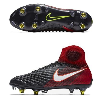 626303e7d3d Nike Magista Obra II SG Pro AC Black RED Men s Sz 8 Soccer Cleats 869482