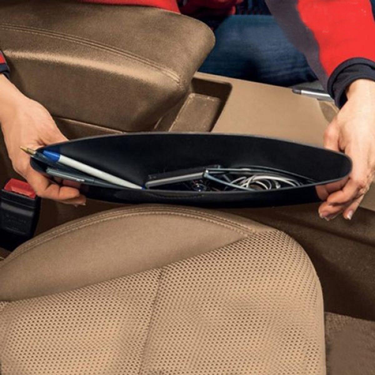 Drop Stop Porta Oggetti Auto Set da 2 vassoi Organizer per sedili in Macchina