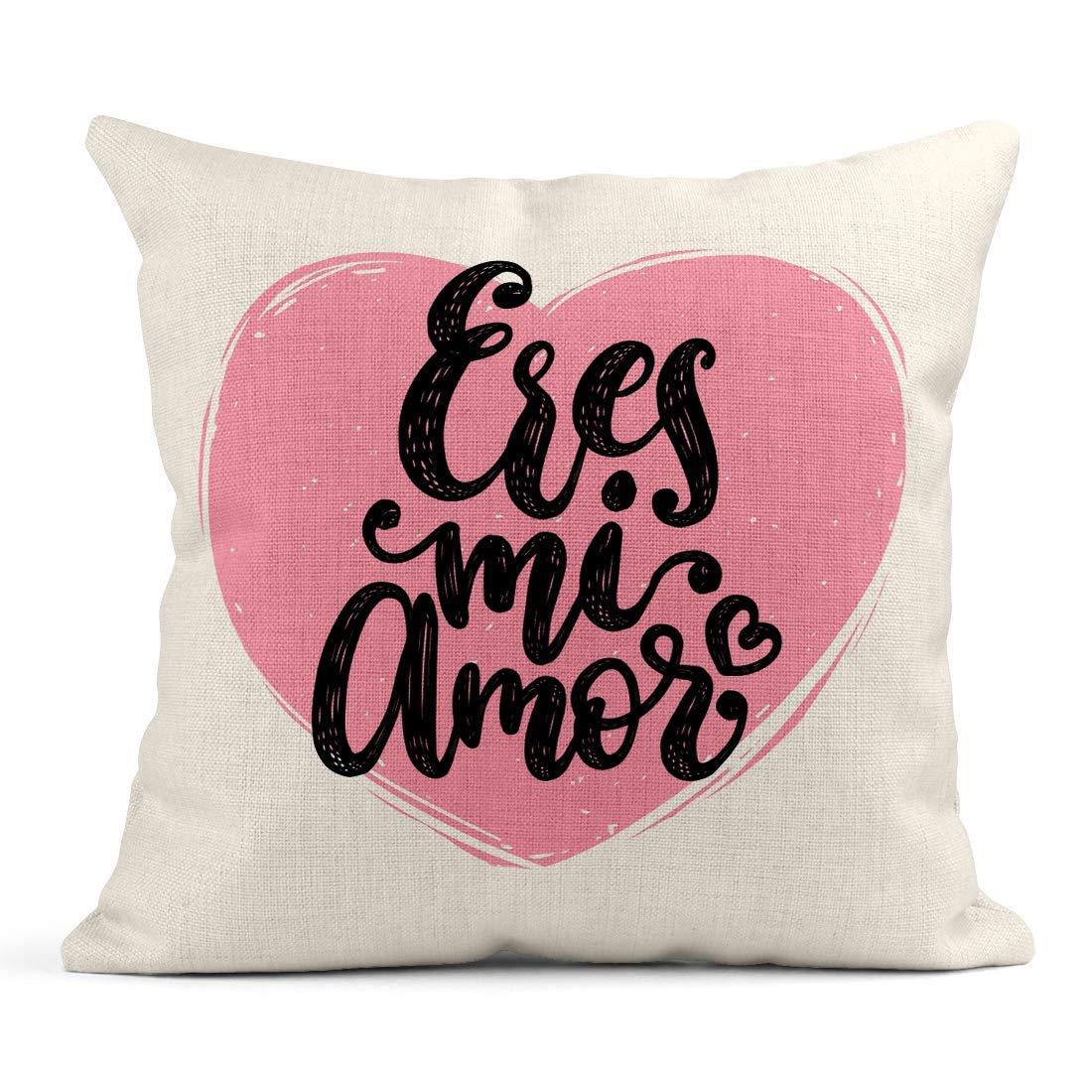 Kinhevao Cojín Eres Mi Amor Letras de Mano Traducción del español ...