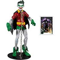 """McFarlane Toys DC Multiverse Robin Earth -22 (Dark Nights: Metal) 7"""" Action Figure with Build-A Parts for 'The Merciless…"""