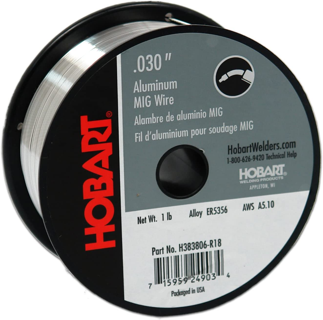 B00012Y0DK Hobart H383806-R18 1-Pound ER5356 Aluminum Welding Wire, 0.030-Inch 71YEbotQupL