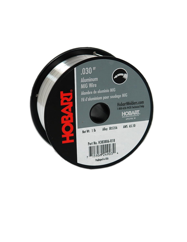 Hobart H383806-R18 1-Pound ER5356 Aluminum Welding Wire, 0.030-Inch ...