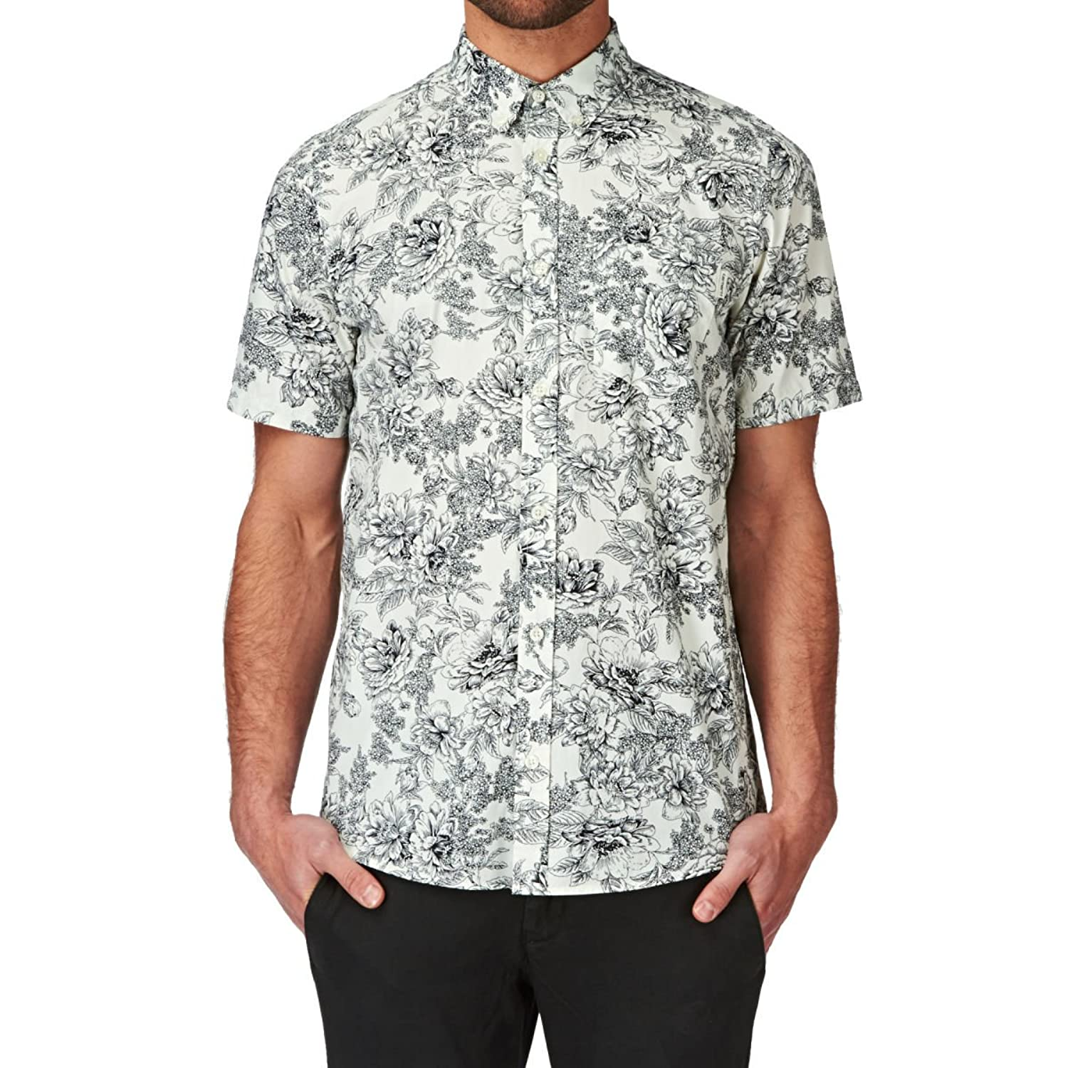 Carhartt Men's Shortsleeved Floral Shirt, White