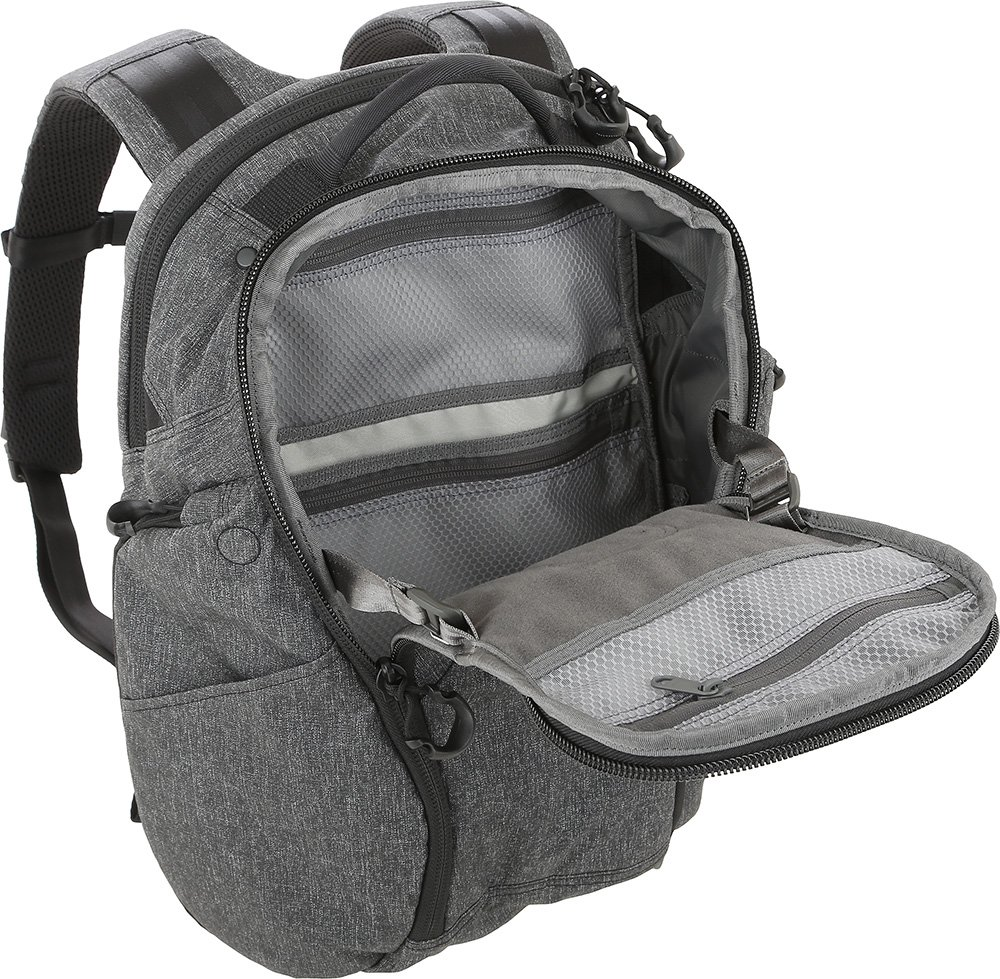 Maxpedition Gear Entity 23 CCW-Enabled Laptop Backpack 23L for Covert Concealed Carry, Charcoal by Maxpedition (Image #3)