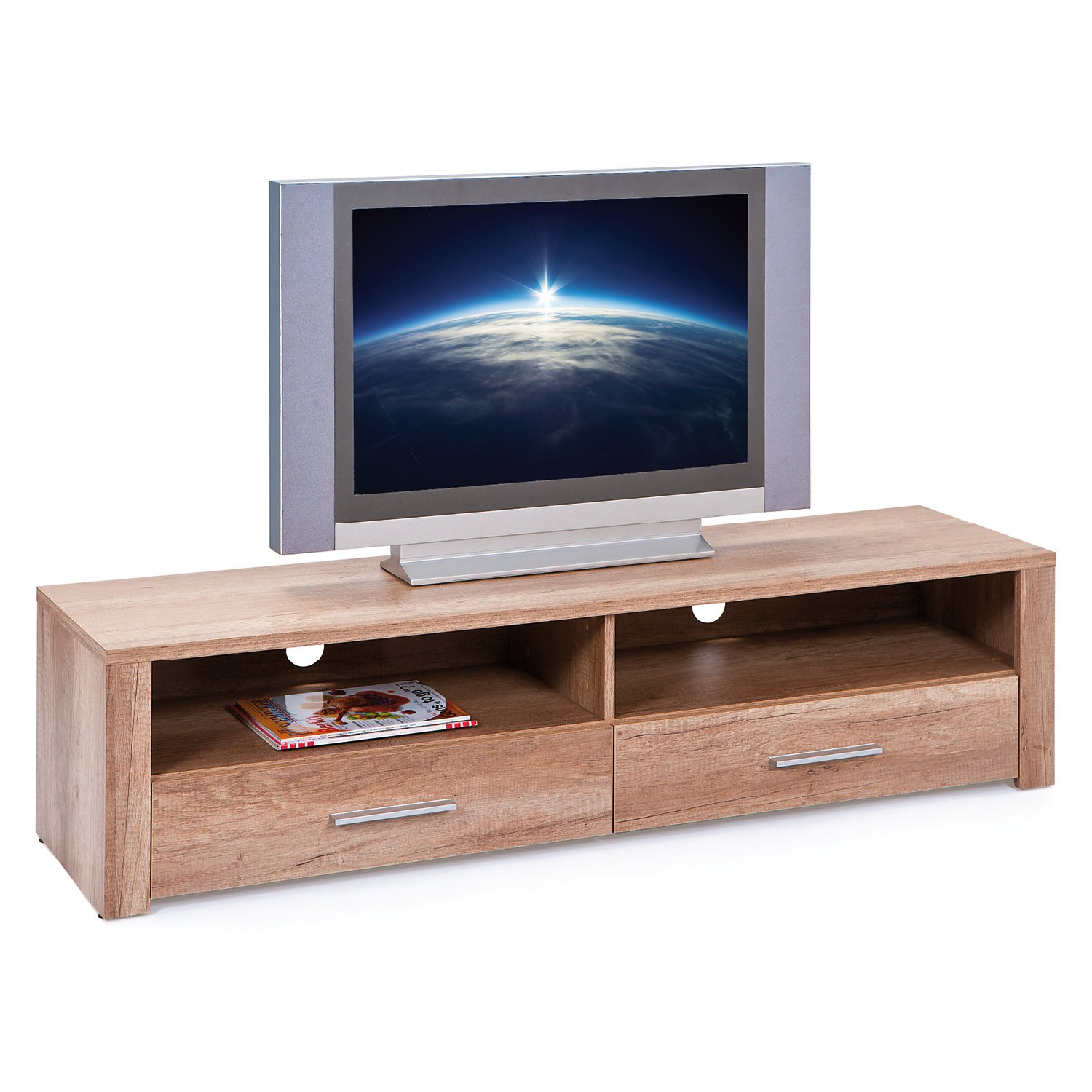 Inter Link 22500800 TV Regal TV TV TV Board Hifi Tisch Schrank Media Rack Wildeiche Beige hochglanz modern daeb88
