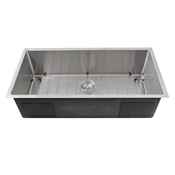 Nantucket Sinks Sr3618 16 36 Inch Small Radius Large Rectangle