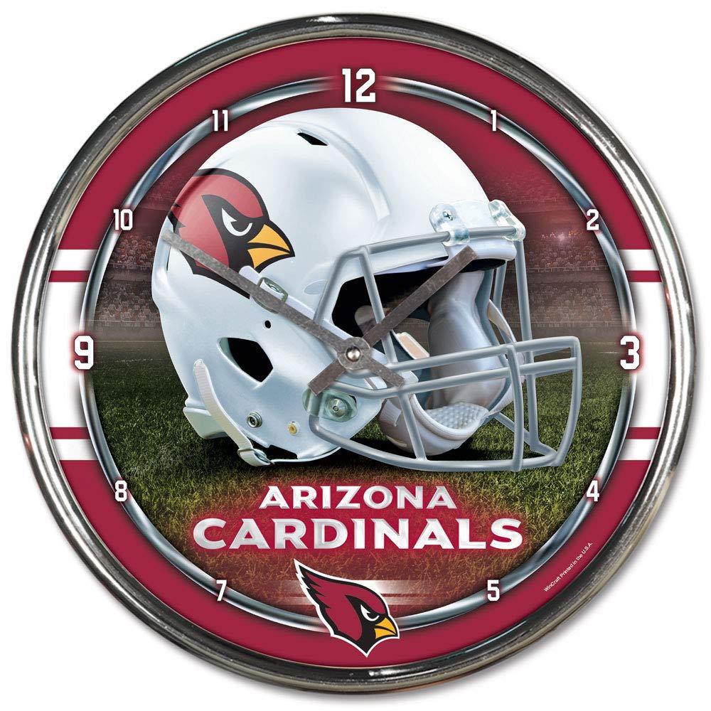 NFL Arizona Cardinals Chrome Clock, 12'' x 12'' by WinCraft