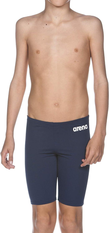 Schnelltrocknend, UV-Schutz UPF 50+, Chlorresistent, Kordelzug arena Jungen Trainings Badehose Solid Jammer