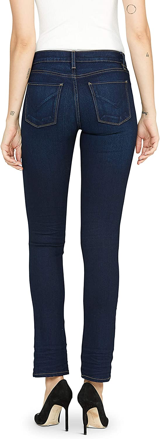 Hudson Women's Nico Mid Rise Slim Fit Straight Leg Ankle Jean Requiem
