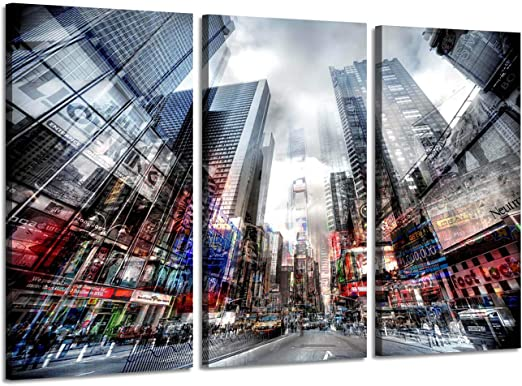 New York NYC Taxi Cab CITY  Canvas Art Print Box Framed Picture Wall Hanging BBD