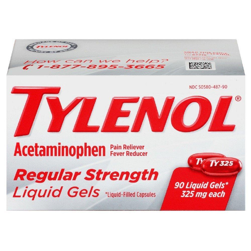 Tylenol Regular Strength Liquid Gels - 90 ct, Pack of 2