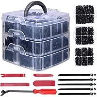 Gafild Klämmor för bilhållare, 635 st 16 storlekar biltrimmningsklämmor plastfästelement kit nylonklämmor nitar…