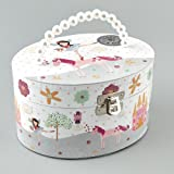 Oval Fairy and Unicorn Musical Jewellery Box by Floss & Rock