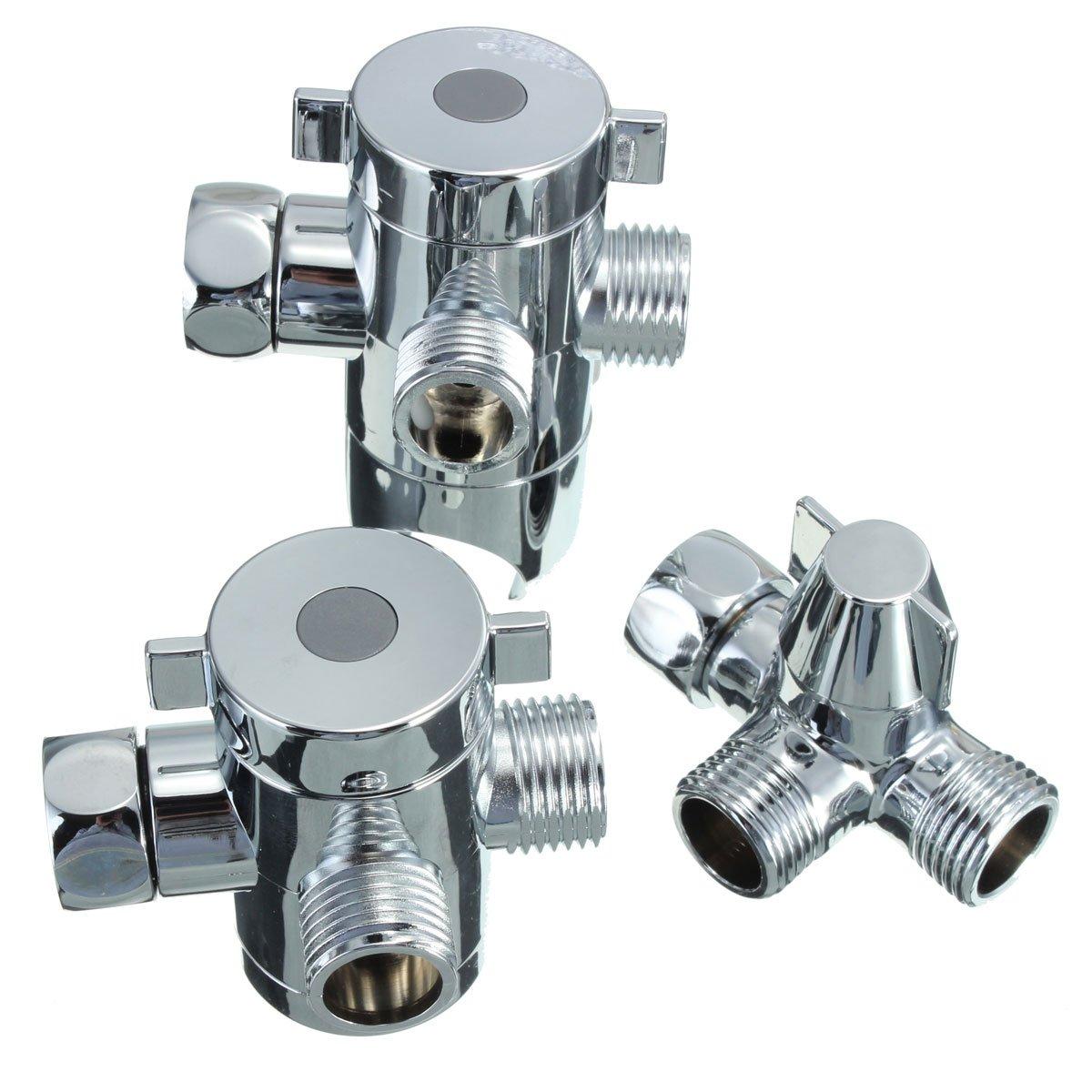 Ungfu Mall G1/2 Inch Three Way T-adapter Shower Head Diverter Valve ...