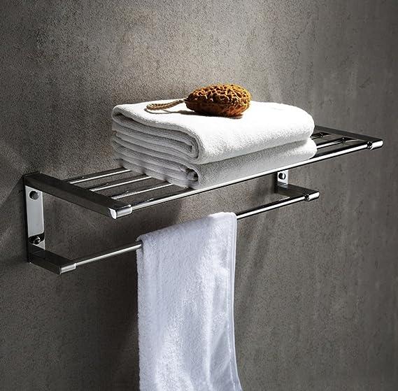 ... de baño de Pared Espejo de refinación de personalidad brillante Toallero de acero inoxidable 304 y Alargar las varillas dobles de toallas de baño Toalla ...