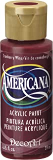 product image for DecoArt Americana Acrylic Paint, 2-Ounce, Cranberry Wine