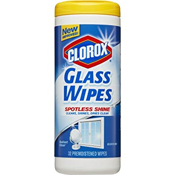 Clorox Glass Wipes, Streak Free Cleaning Wipes - Radiant Clean, 32 Count