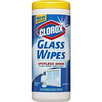 amazon com clorox glass wipes streak free cleaning wipes radiant