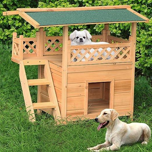yahee XXL Caseta gato cabaña Perros Gato Mascota Casa Madera Jardín sol Terraza con machimbre: Amazon.es: Productos para mascotas