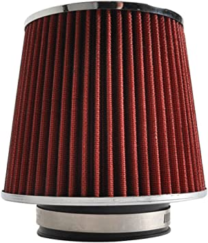 """3.5/"""" Cold Air Intake Filter Universal RED For F350 Super Duty All Models"""