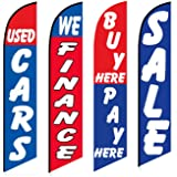 Used Cars Flag Windless Swooper 4 Lot Set Auto We Finance Buy Here Pay Here Sale by FlagPad