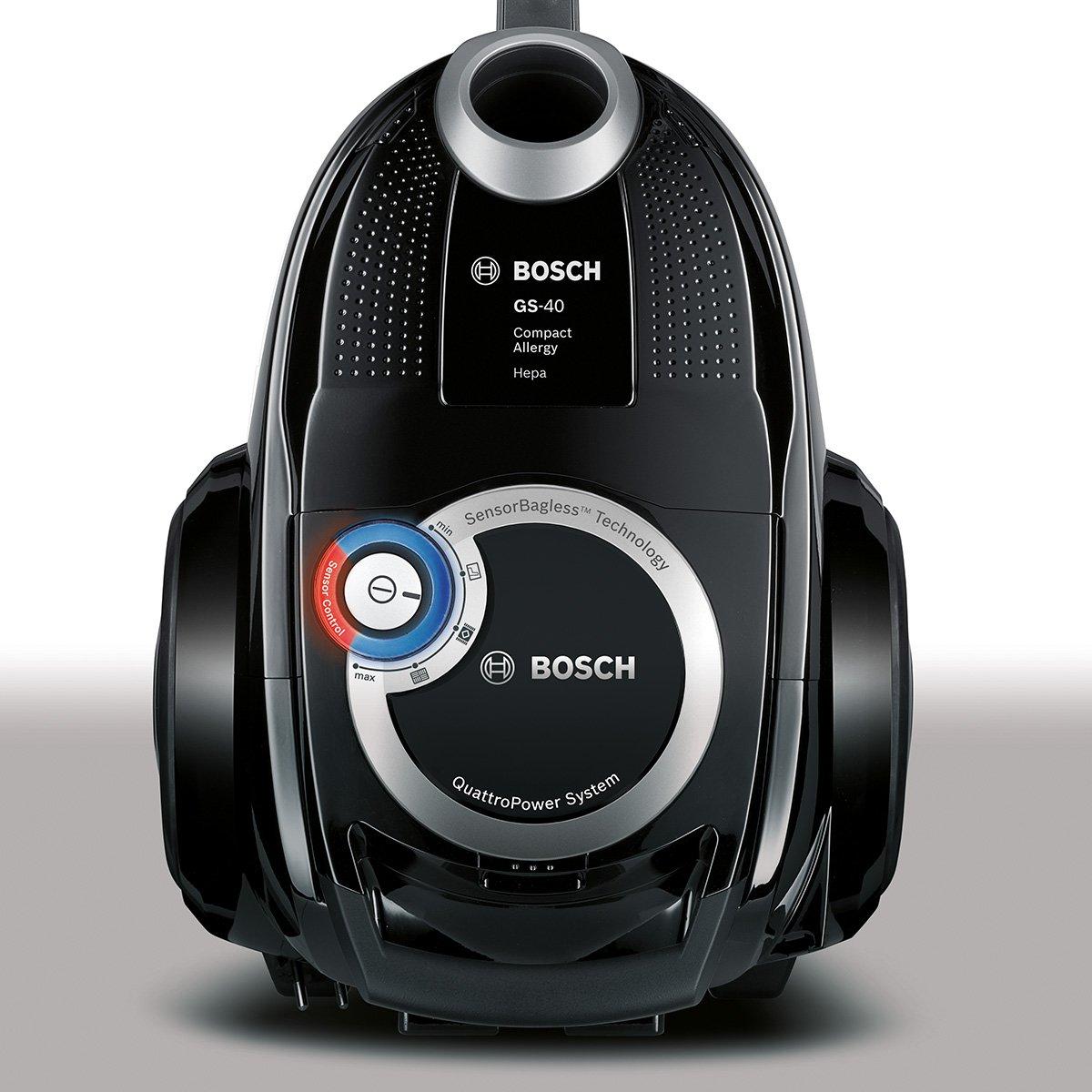 classe di consumo energetico A sensor control senza sacchetto Bosch BGC4U330 dacero aspirapolvere Runnn quattro iony sistema Nero