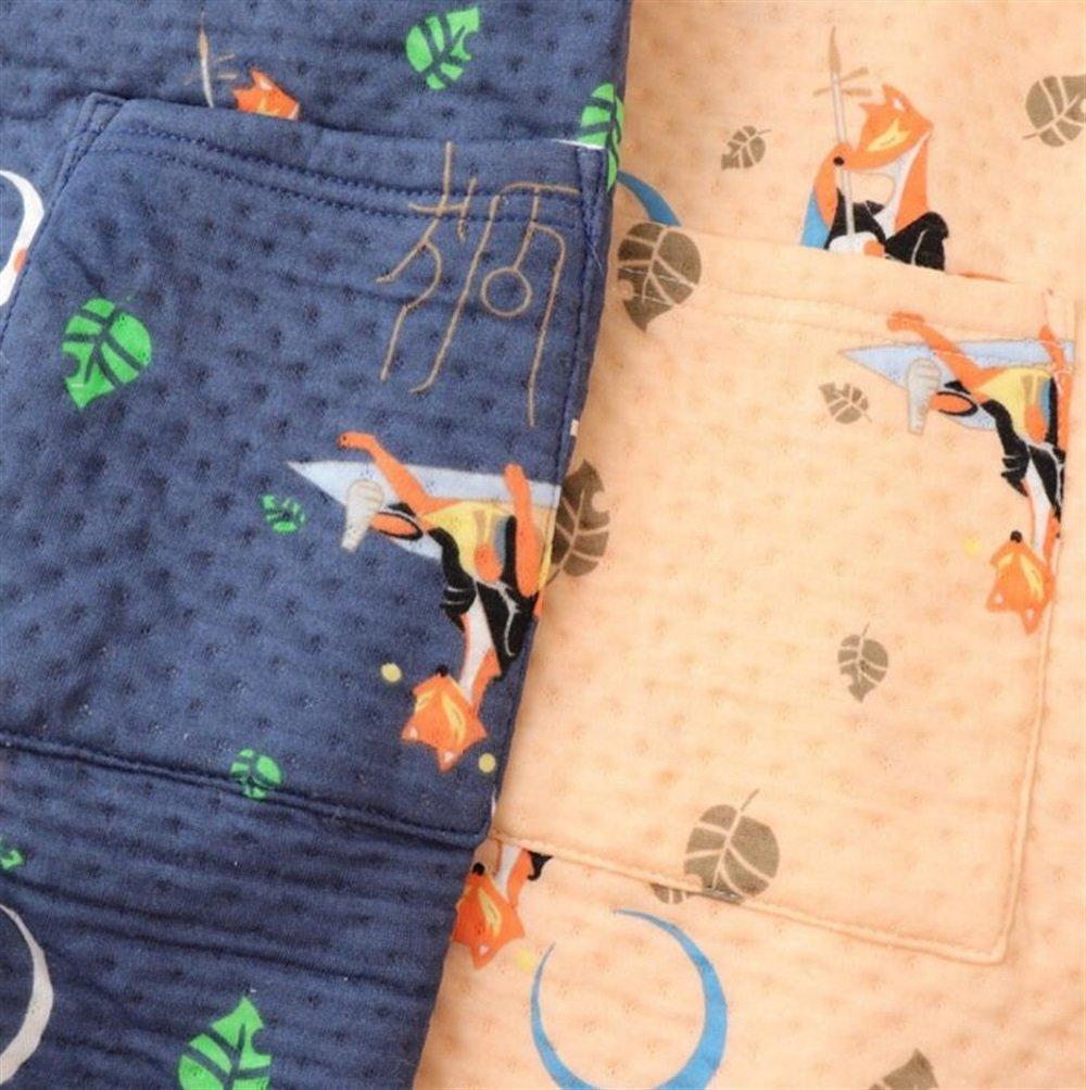 SUxian Gran Albornoz Espesada de Invierno para Hombres Camisón Estampado de Pijamas de algodón con Estampado de Zorro: Amazon.es: Hogar